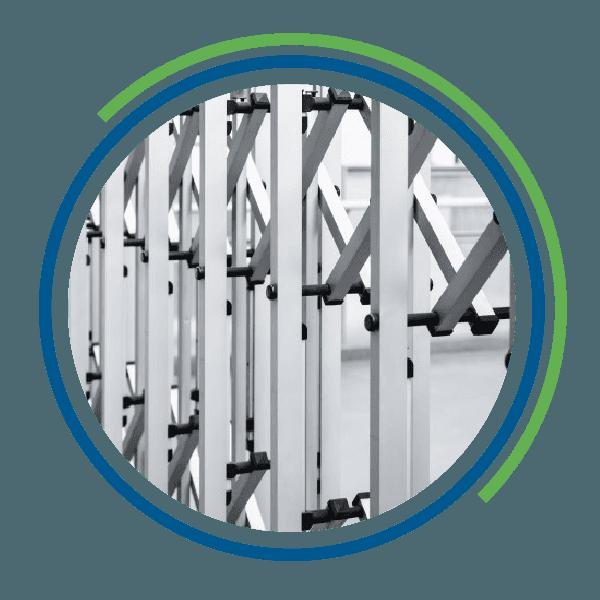 Le sbarre di un cancello automatico