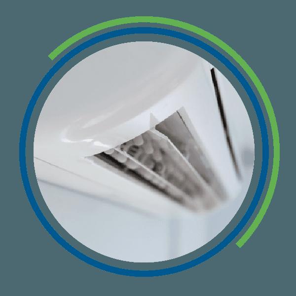 Un climatizzatore impolverato
