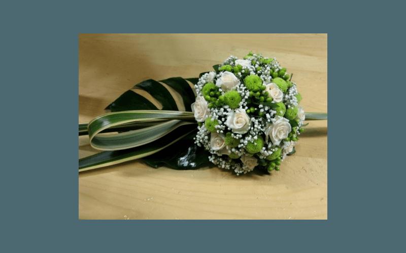 bouquet verde e bianco