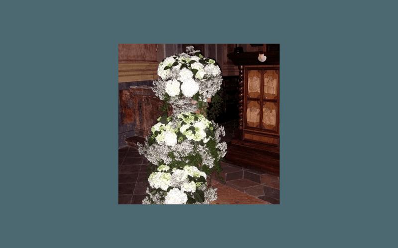 allestimenti fiori verticali