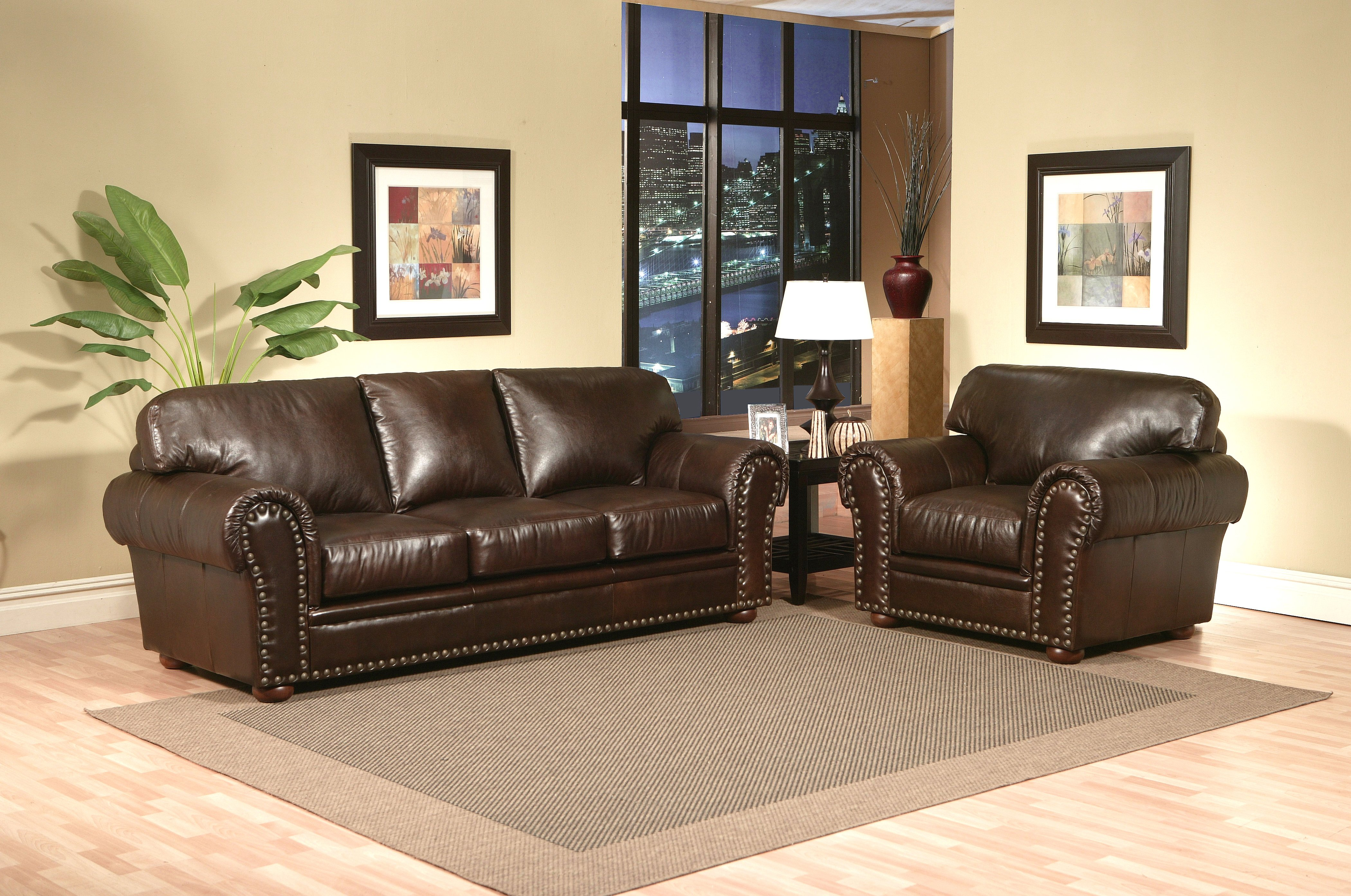Leather sofa orlando the orlando collection gray american for American home furniture orlando
