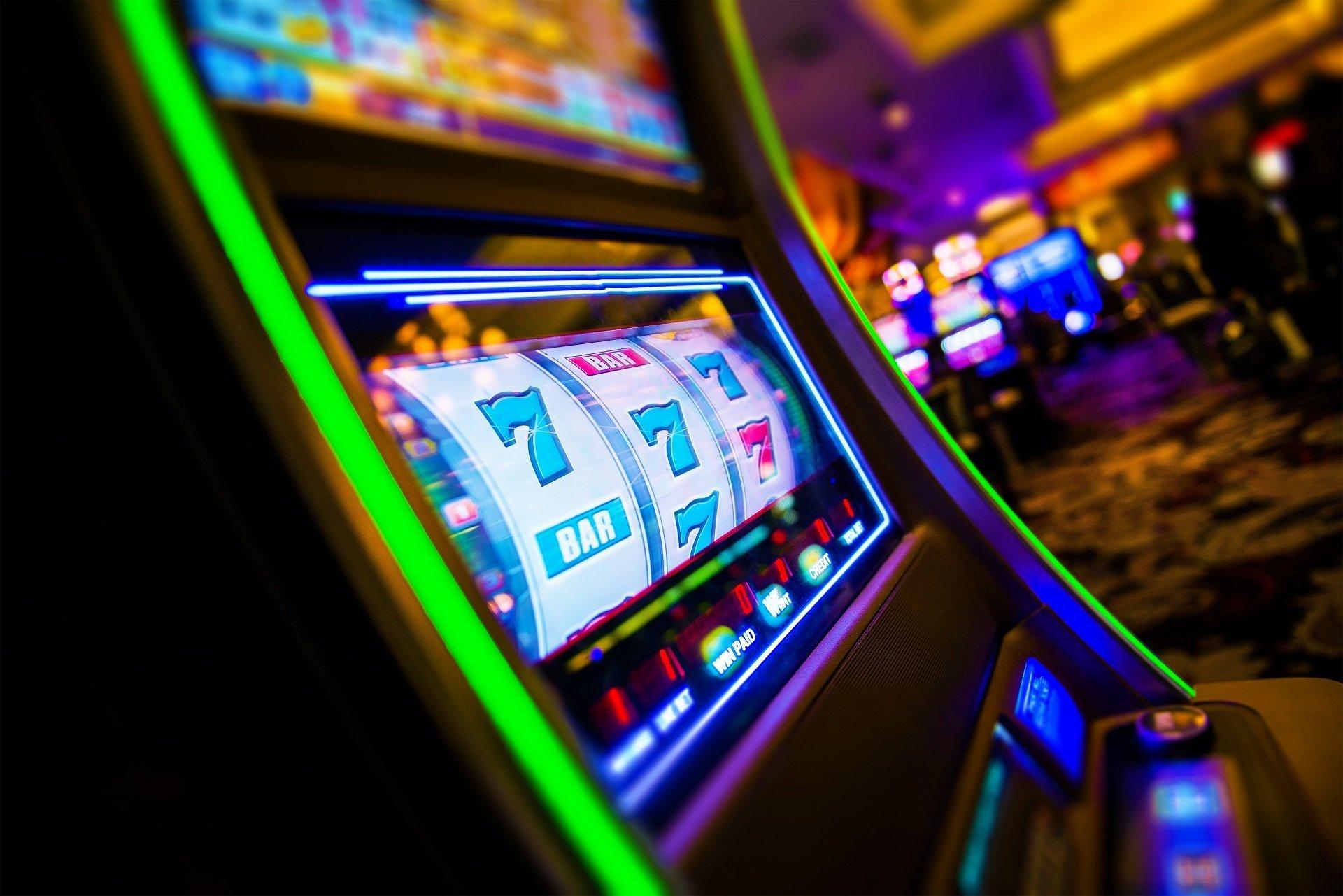 dettaglio di slot machine