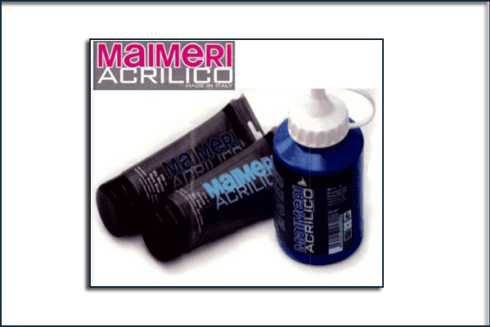 MAIMERI colori acrilici , fondi, diluenti, medium, vernici, pennelli per pittura acrilica (www.maimeri.it)