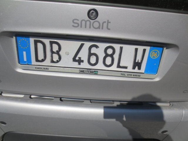 targa auto Smart usata