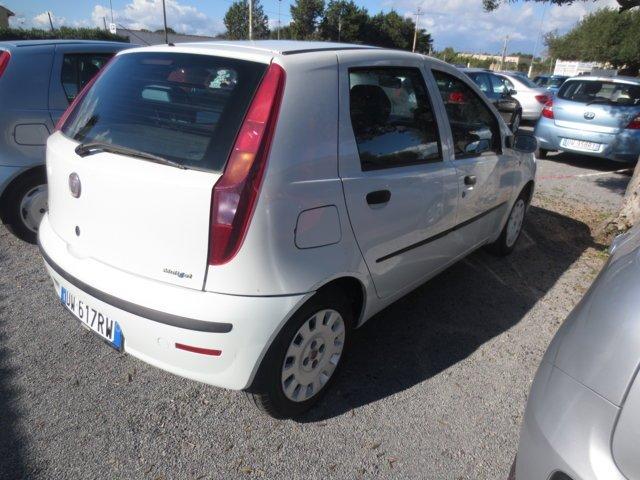 Fiat Punto usata bianca vista posteriore