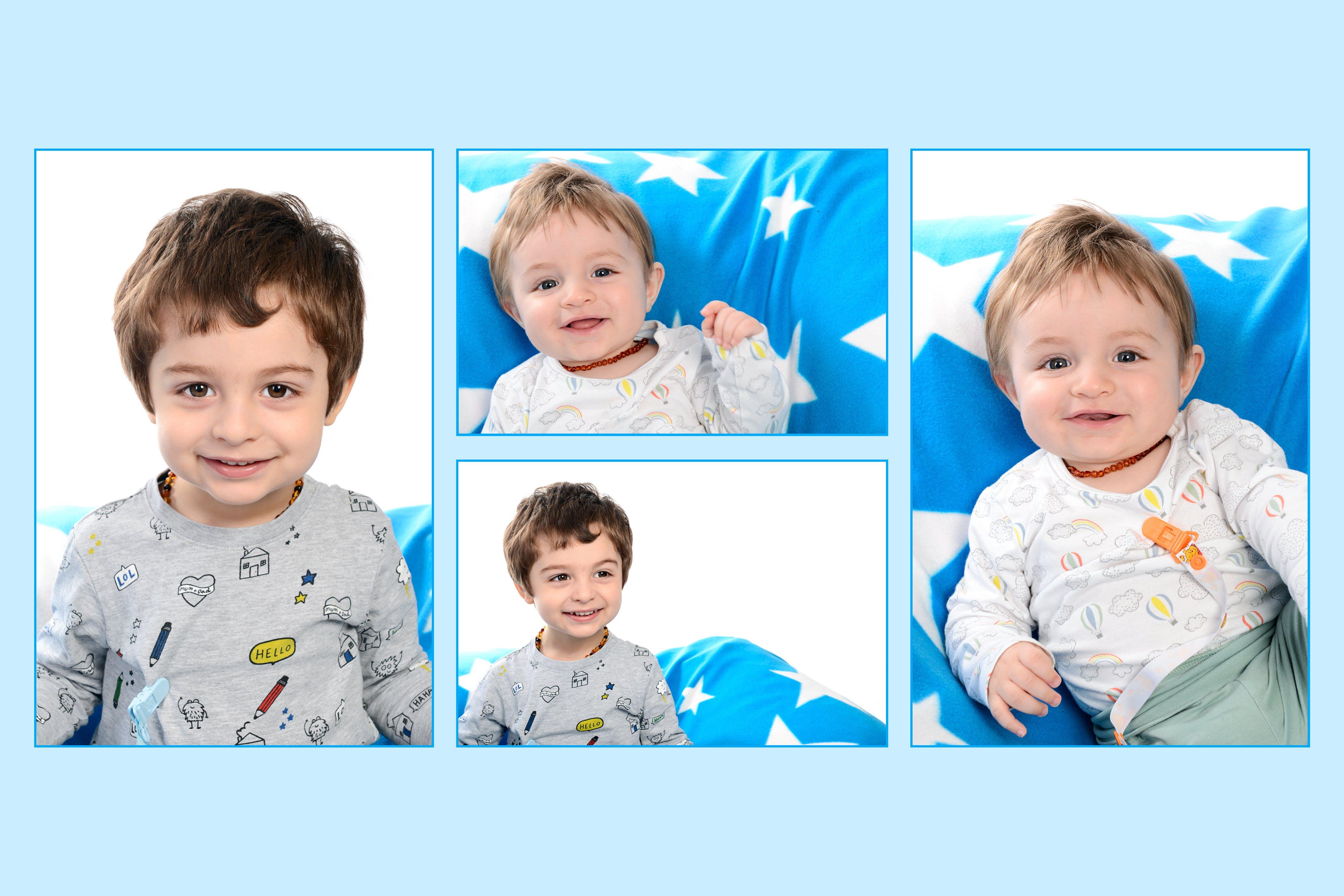 un collage di immagini di un bambino