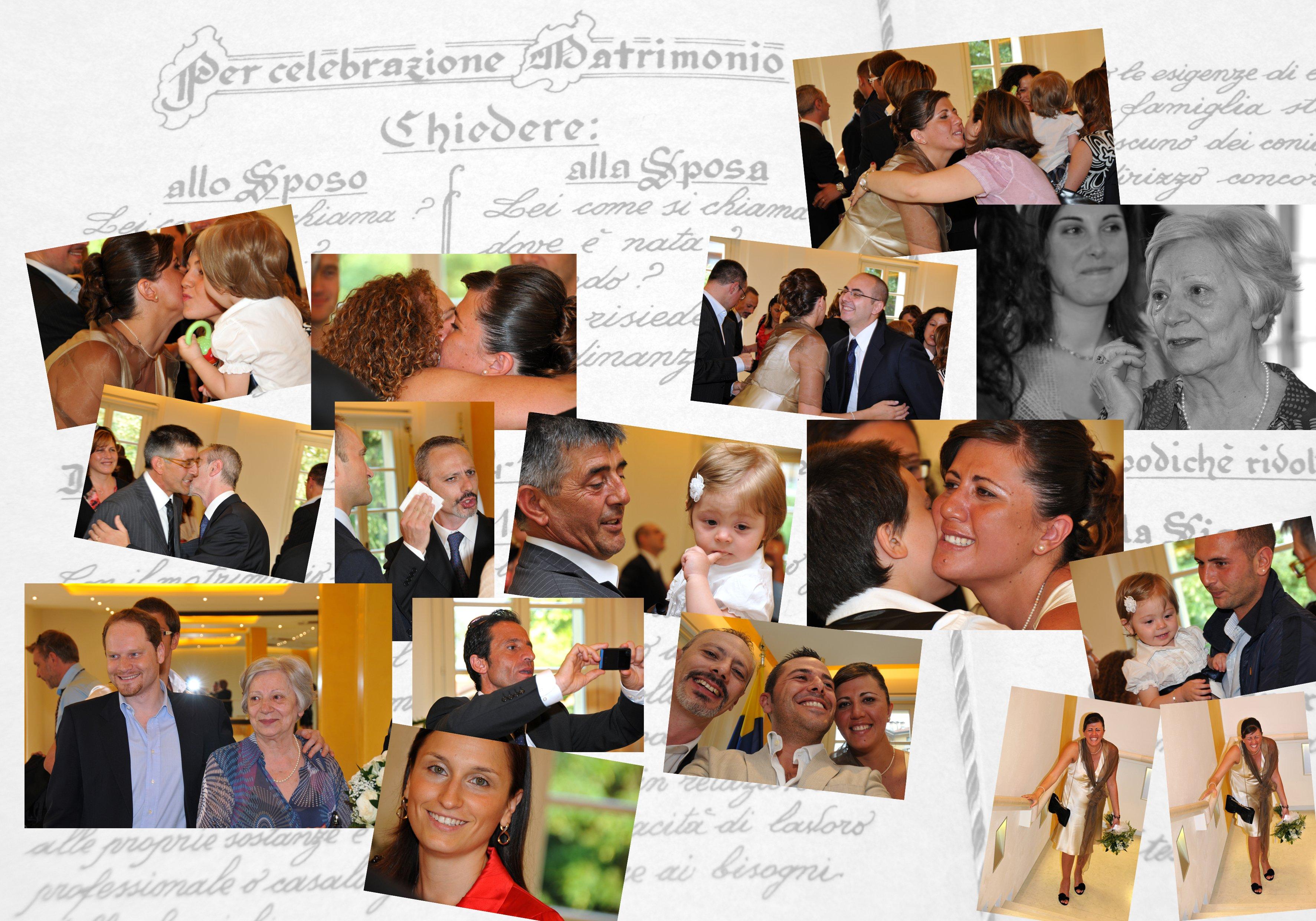 un'immagine delle spose e degli ospiti