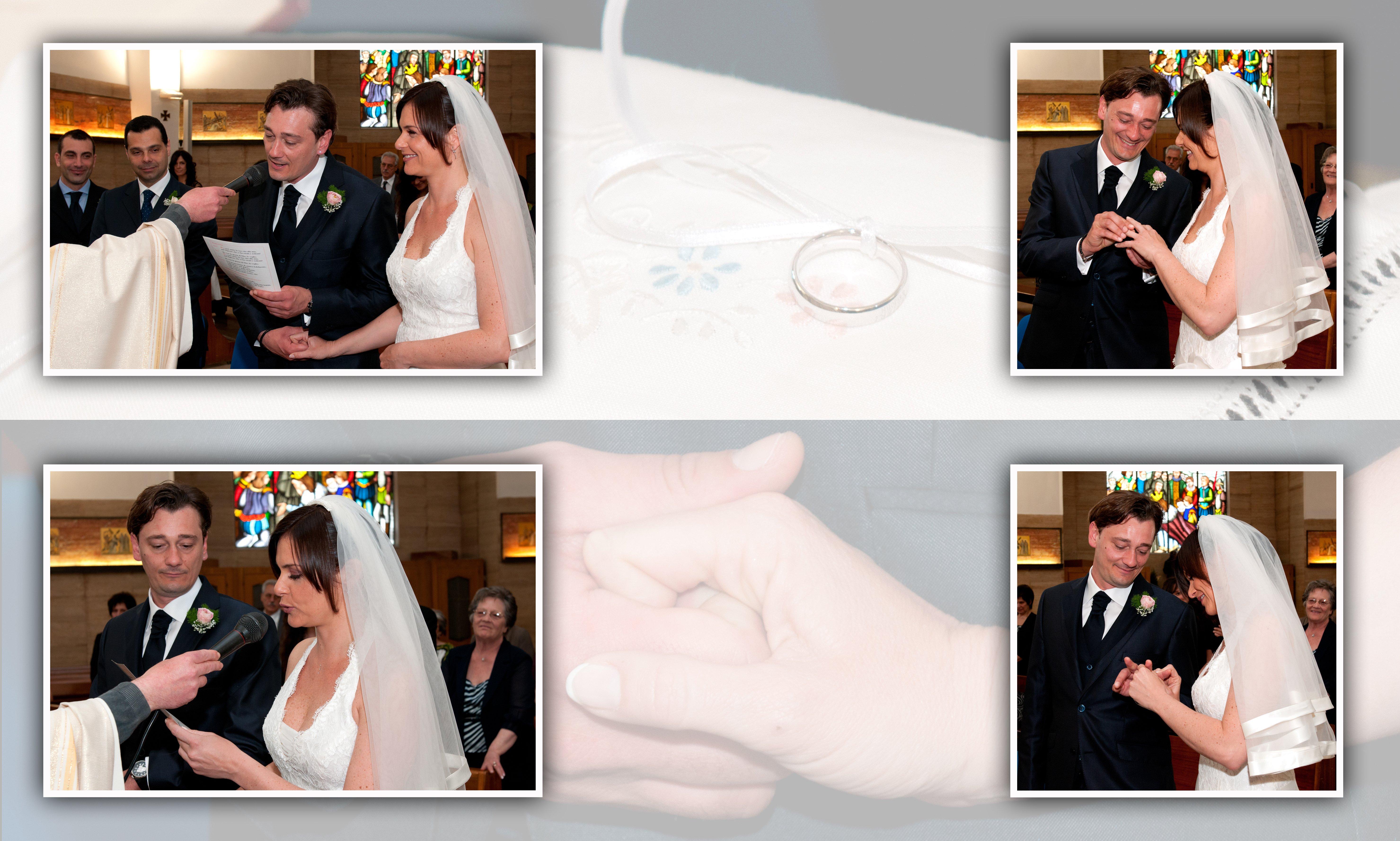 delle foto di una sposa e uno sposo