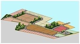 un disegno di un terreno edificabile