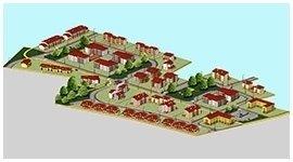 un disegno di un'area residenziale