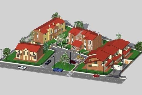 il disegno di un;area residenziale