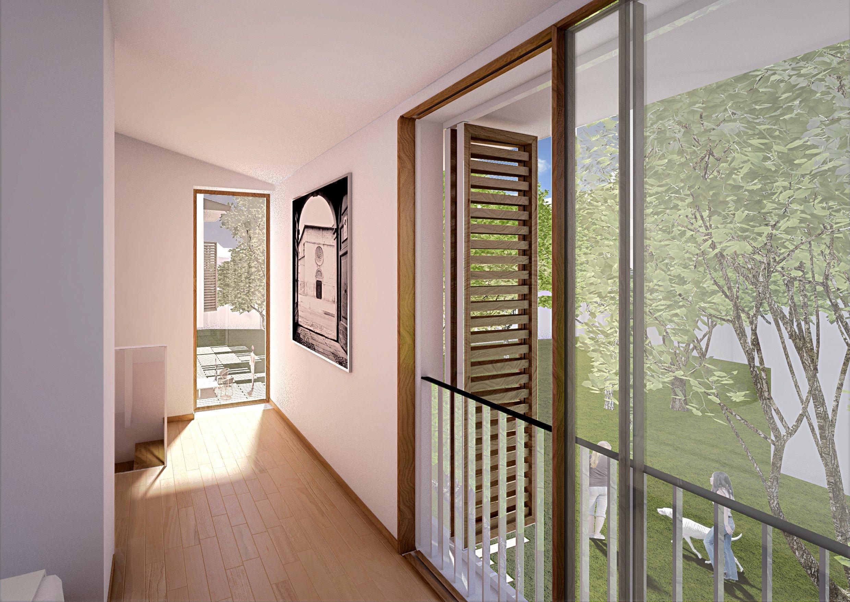 Corridoio di appartamento con vetrata