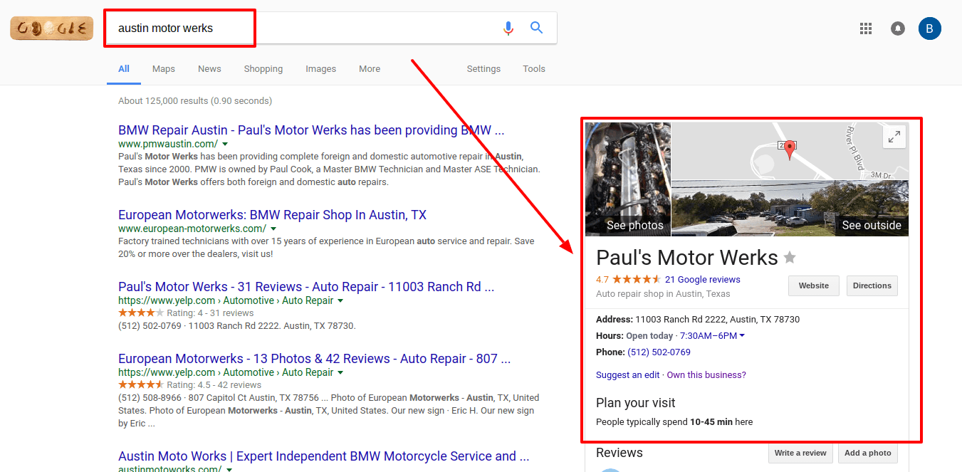 how to find your google my business listing