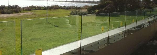 noble park glass compound wall with glass