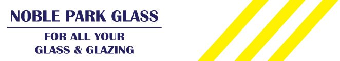 noble park glass business logo