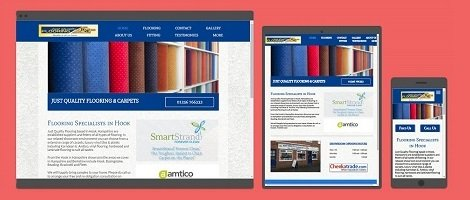 Business websites designed for PCs, tablets and smartphones