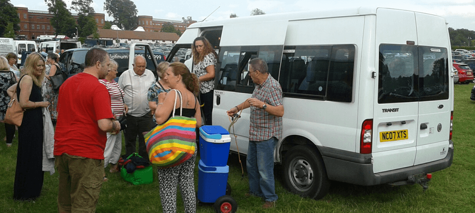 Minibus hire for events