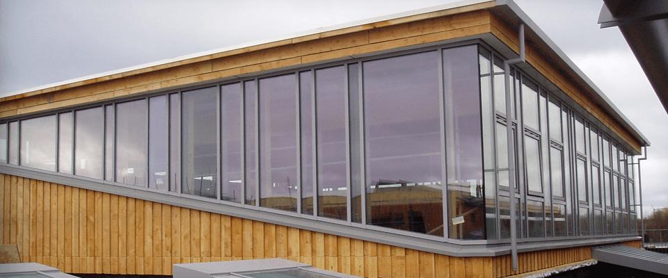 Glass curtain wall repairs