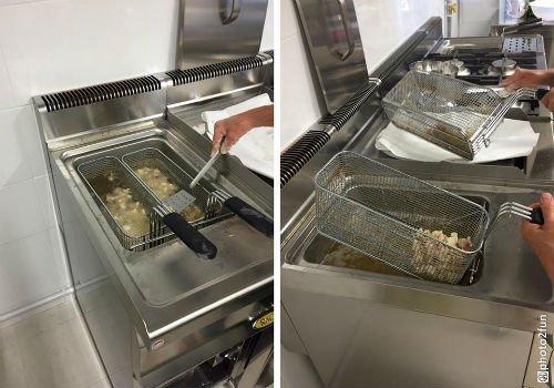 Moderna macchinari per che i fritti non perdano il loro sapore