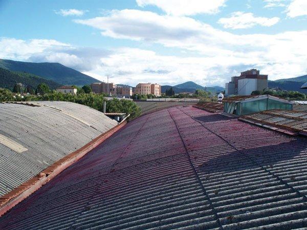 tetti impianto in amianto