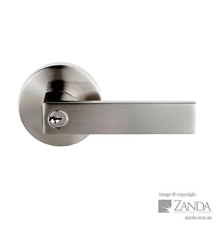 door handle silver edge line style