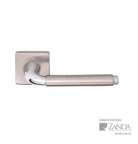 door handle with dotted design