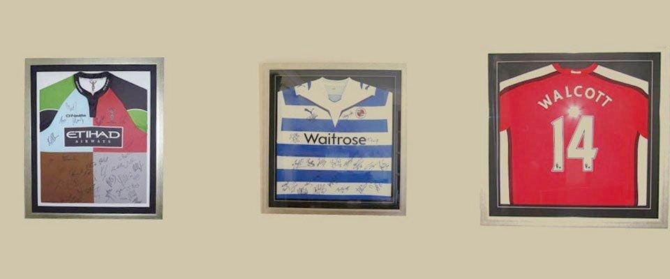 Sports shirt framing in Reading