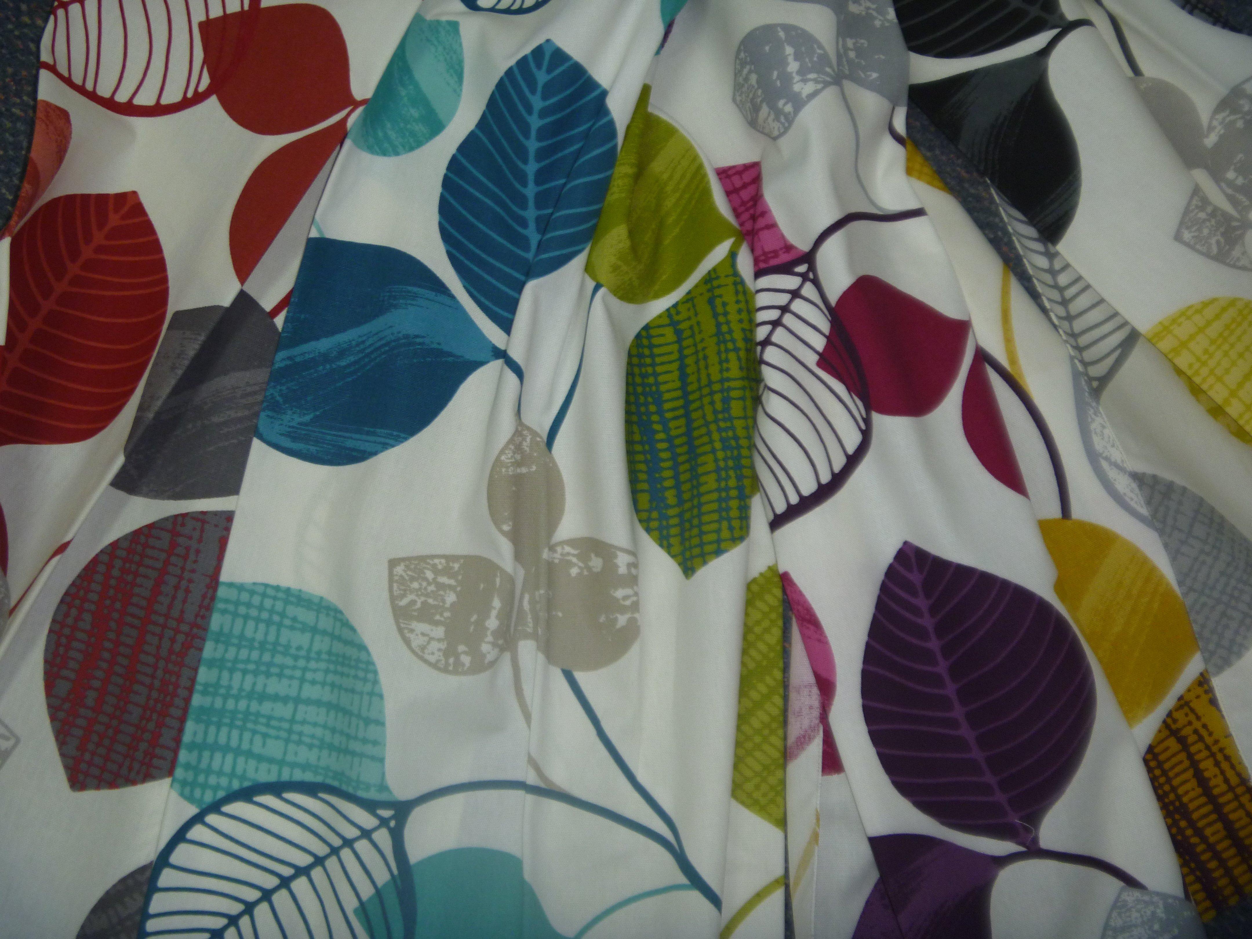 Multi color leaf Furnishing fabric