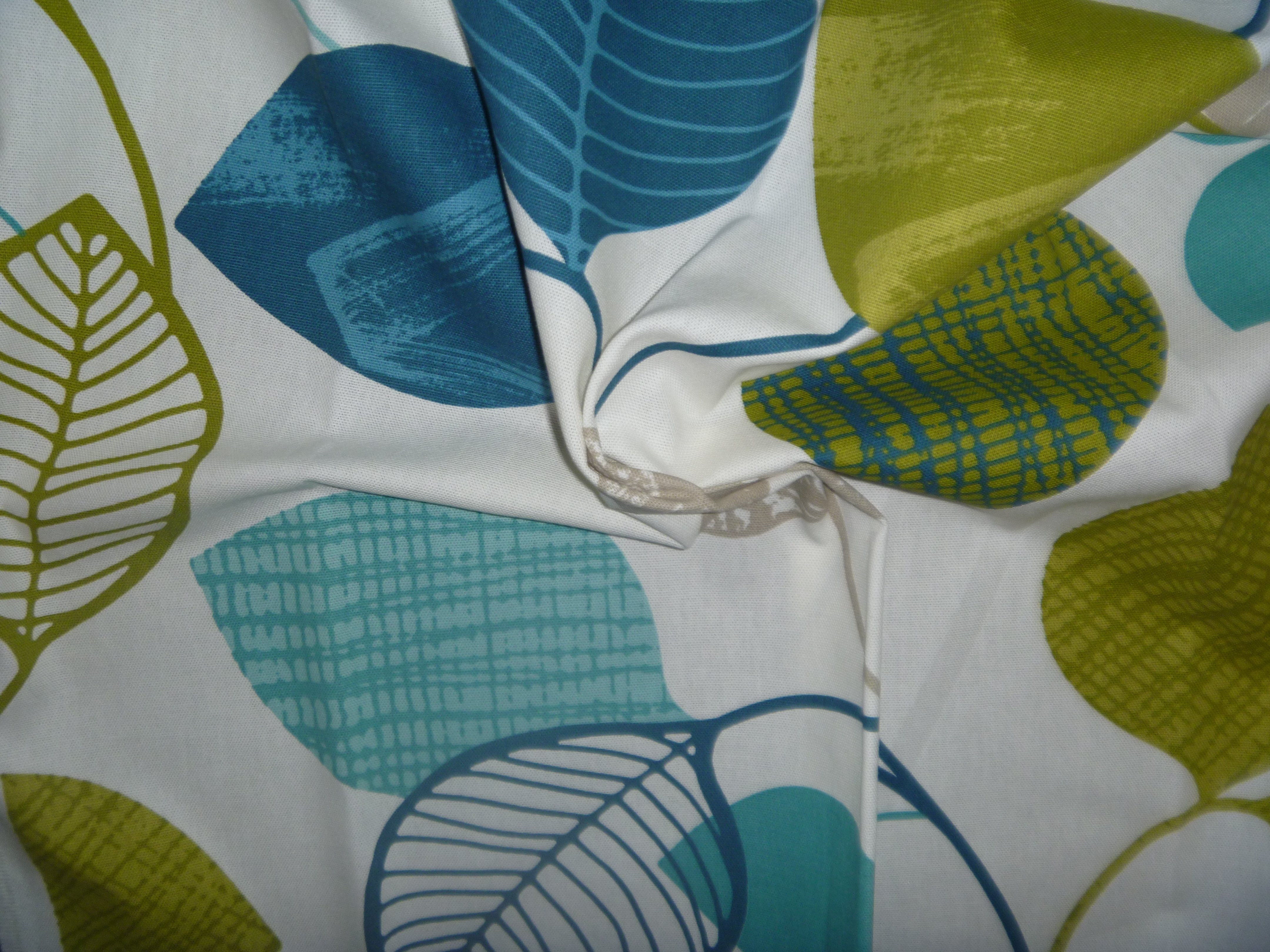 Green and blue leaf Furnishing fabric