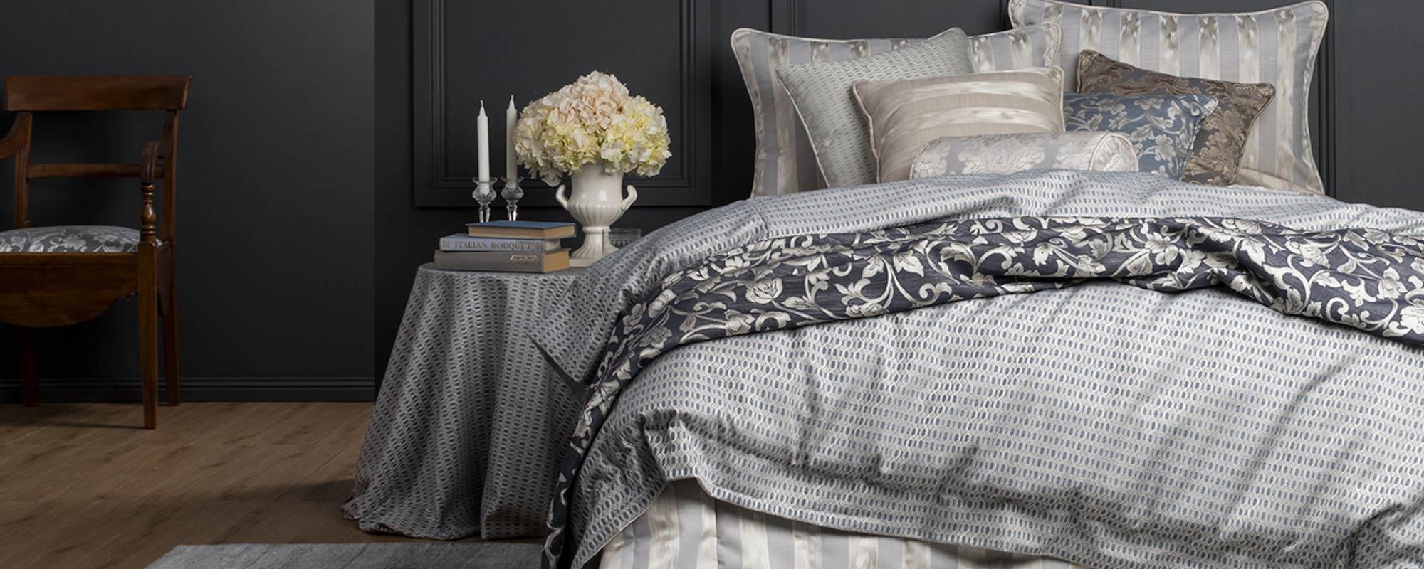 View of bedroom bedsheet