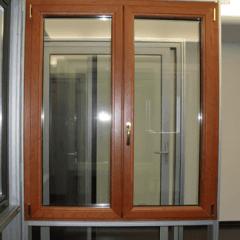 finestra taglio termico vetro color legno, sicurezza fuoco, infissi sicuri