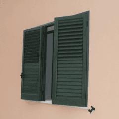 persiane color verde, persiane, chiusure sicure