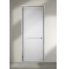 zanzariera a porta, apertura a porta, installazione a cardine