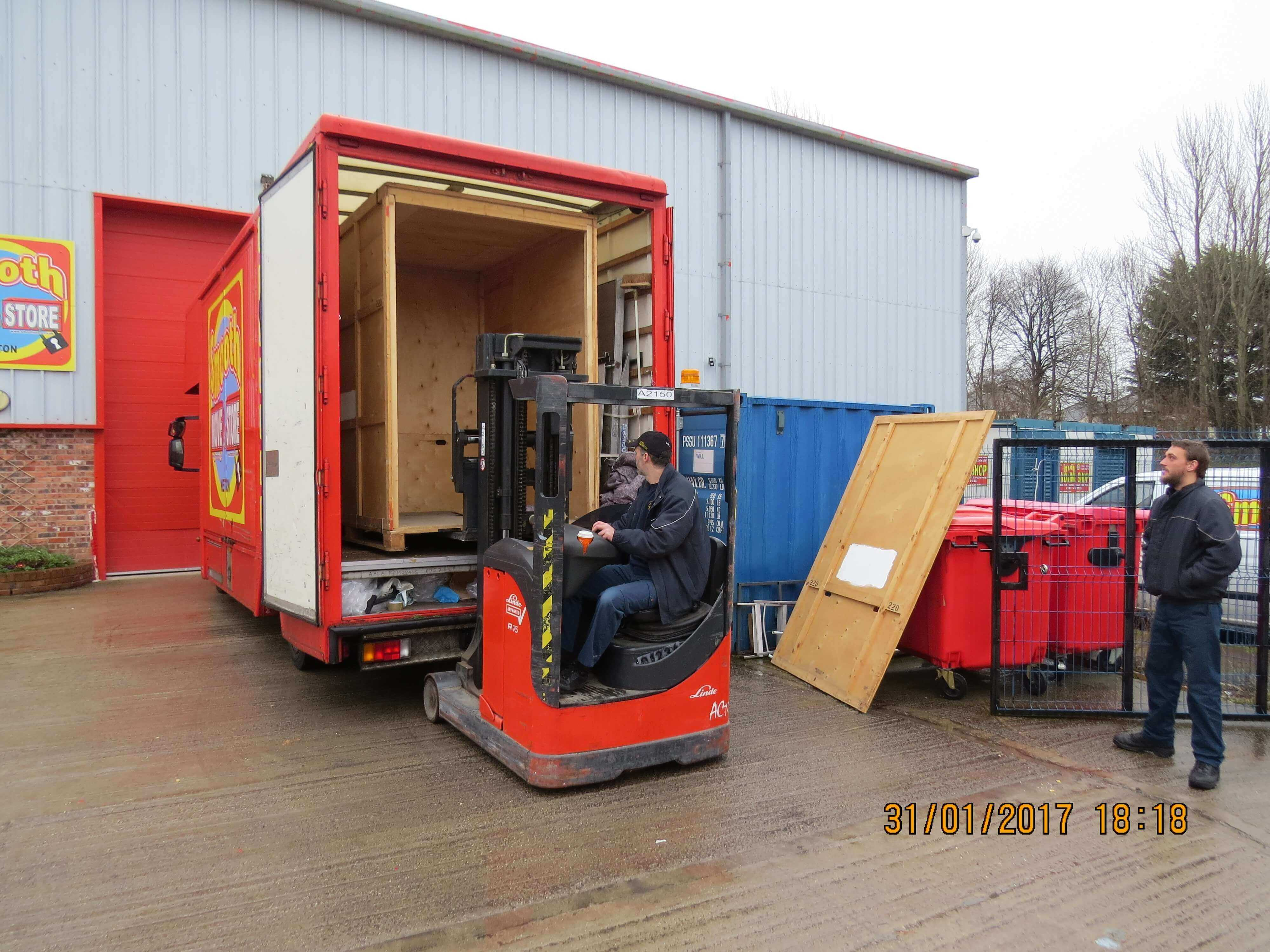 Loading an empty container