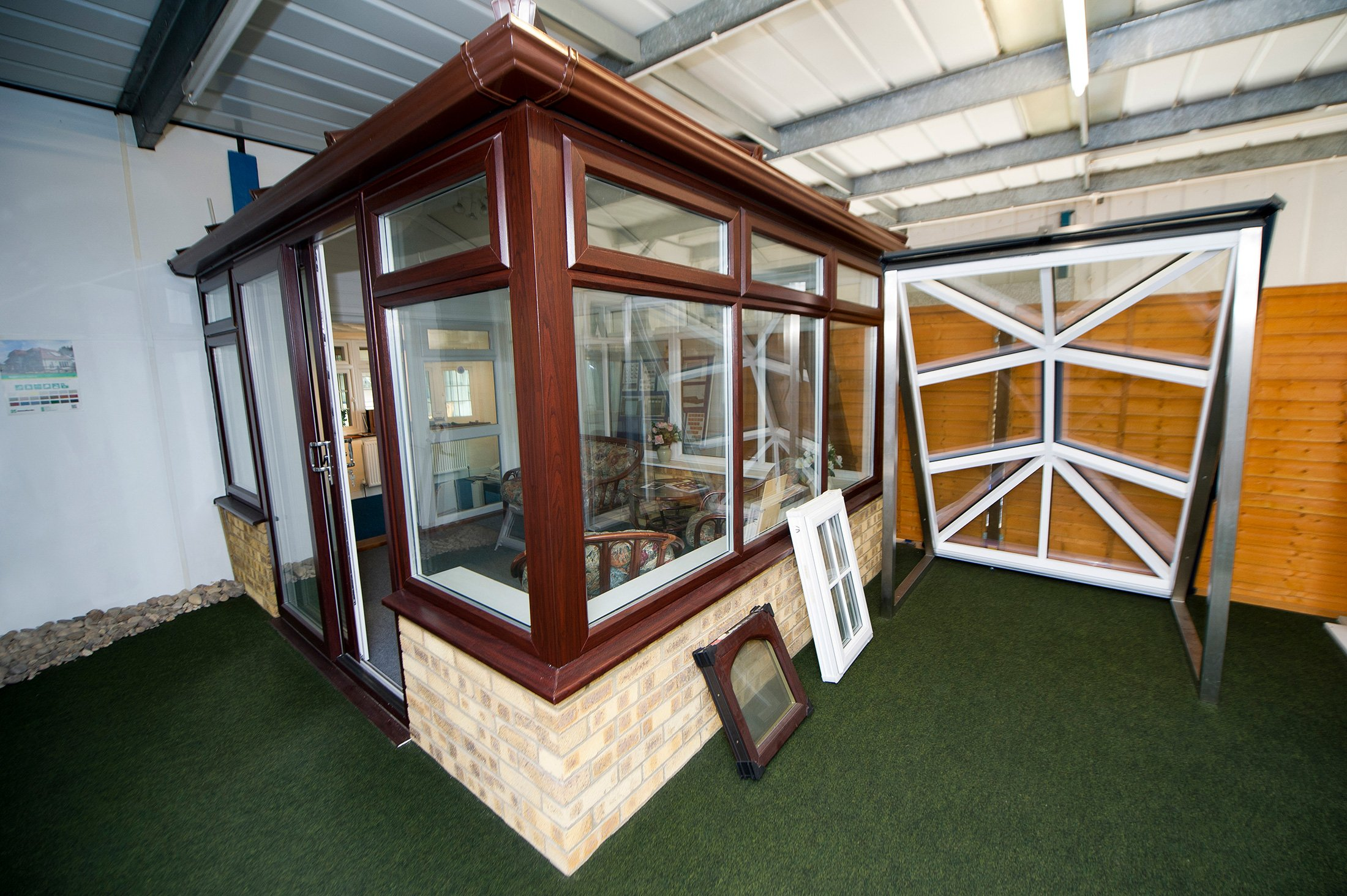 wooden frame conservatory
