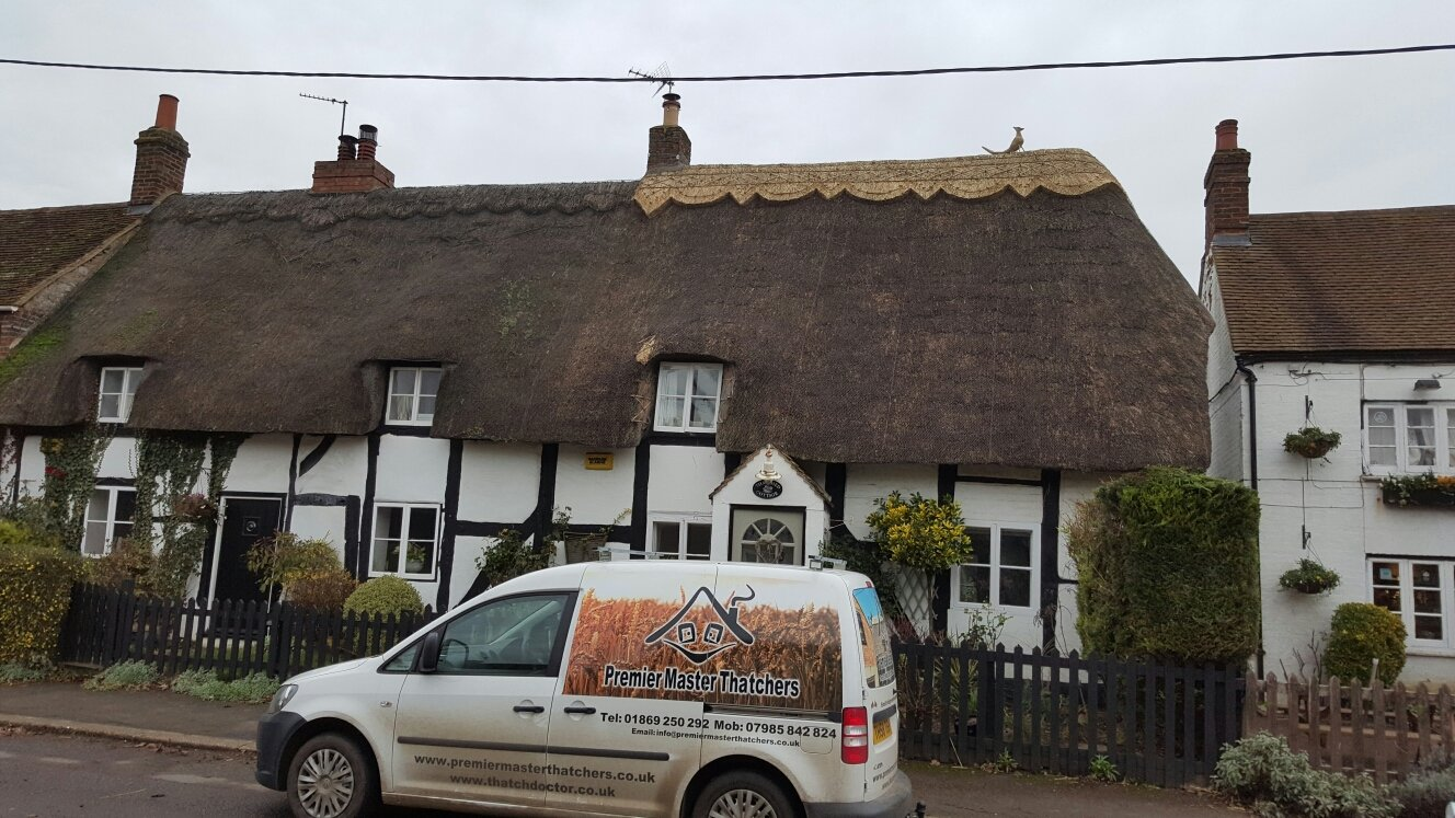 A thatched roof