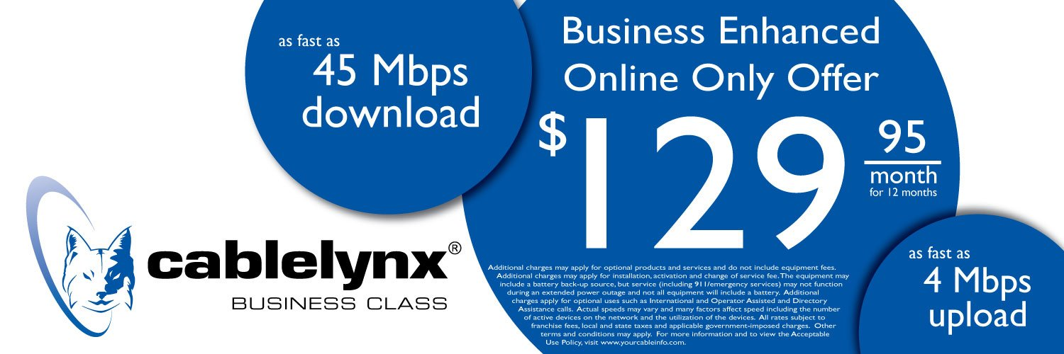 Business Enhanced Online Only Offer $129.95 a month