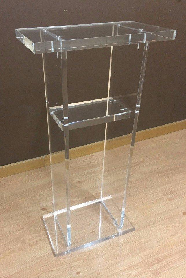 scaffalatura in plexiglass