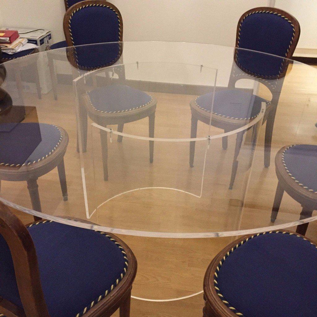 tavolo in plexigas