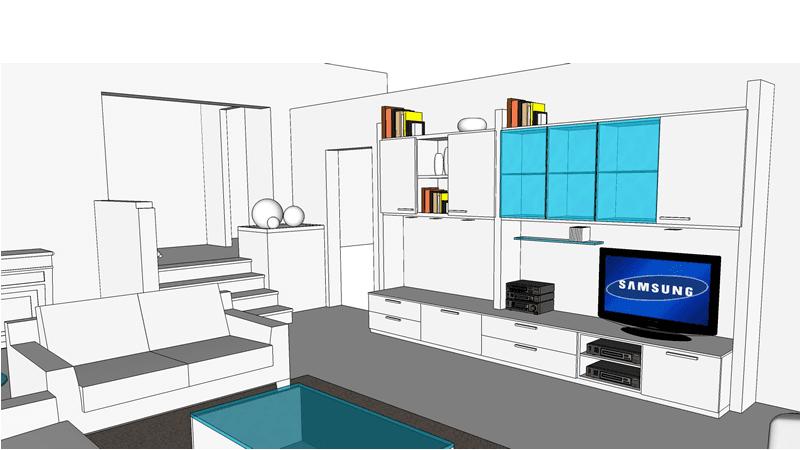 progetto arredamento interni 06