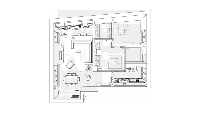 progetto arredamento interni 04