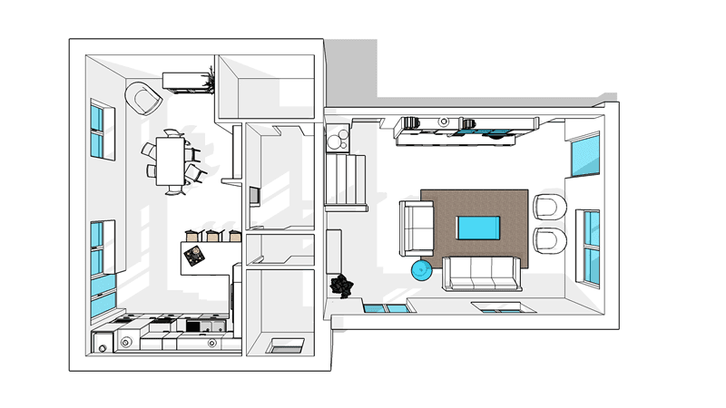 progetto arredamento interni 08