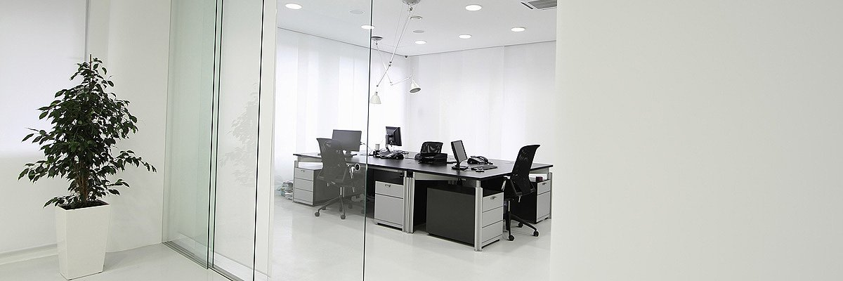 haines glass and glazing office glass door