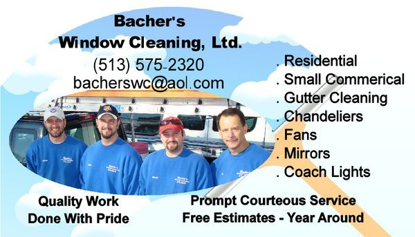 Bacher's Window Cleaning Posture