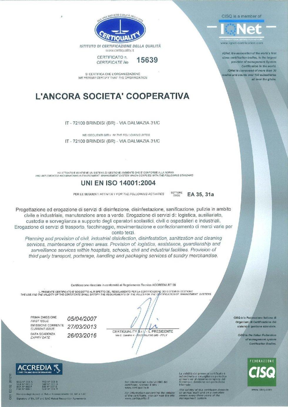 CertiQuality Certificato
