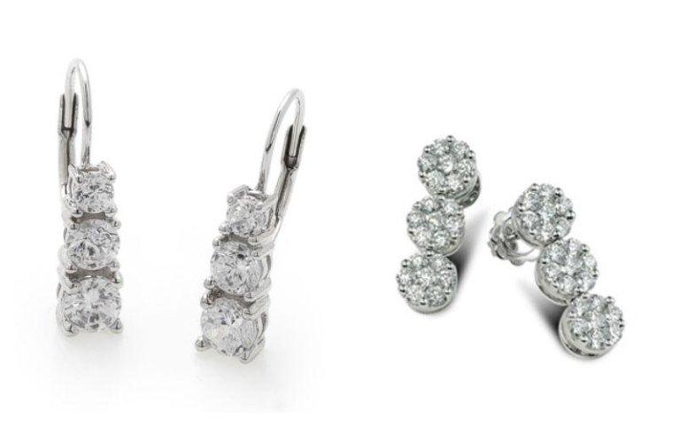 Coppie di orecchini con diamanti Diamantia