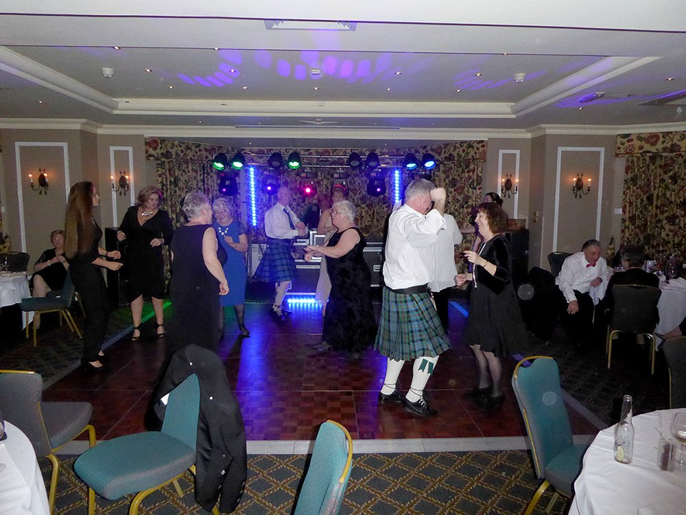 Guests dancing the night away