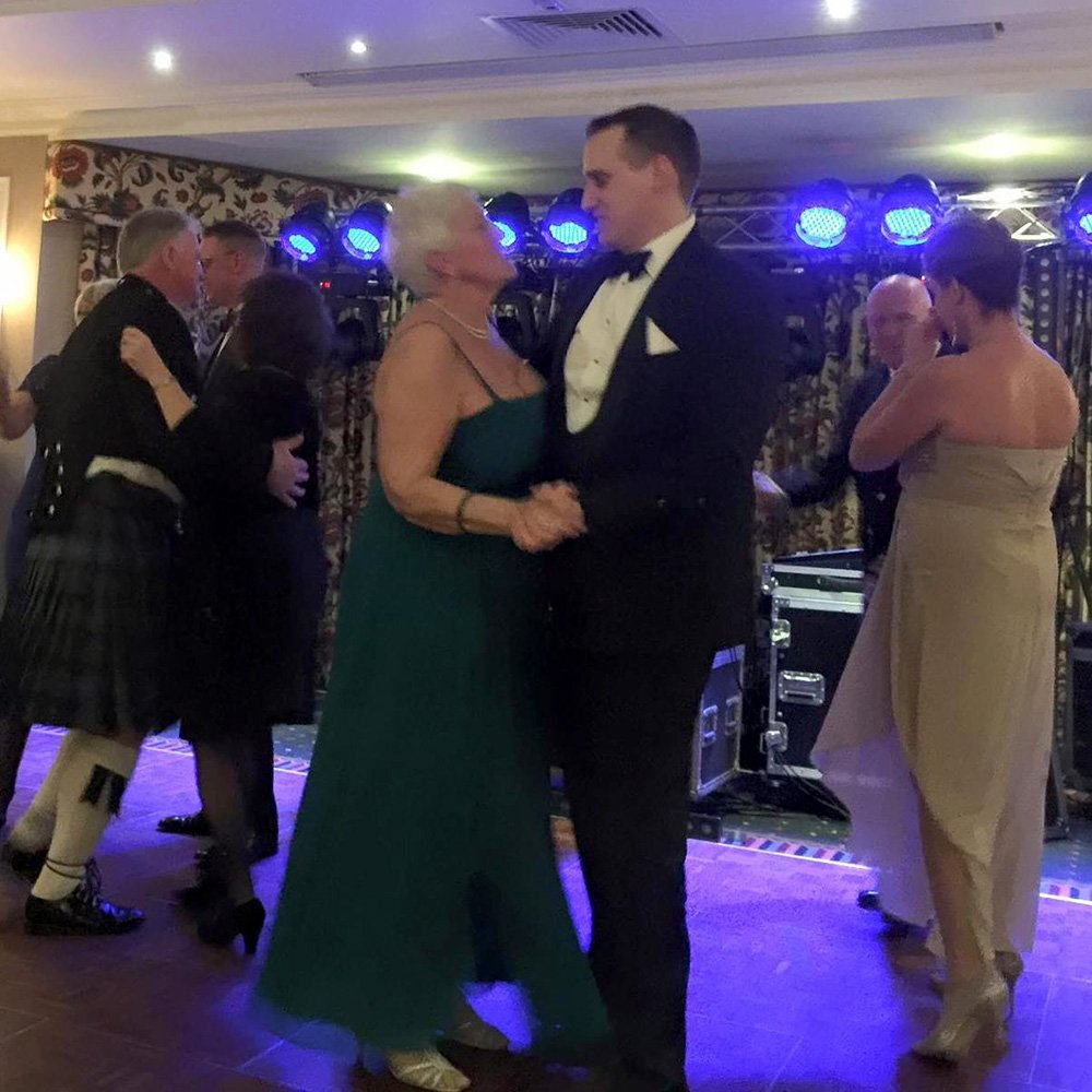 W Bro Thomas Day dancing with his mother Christine