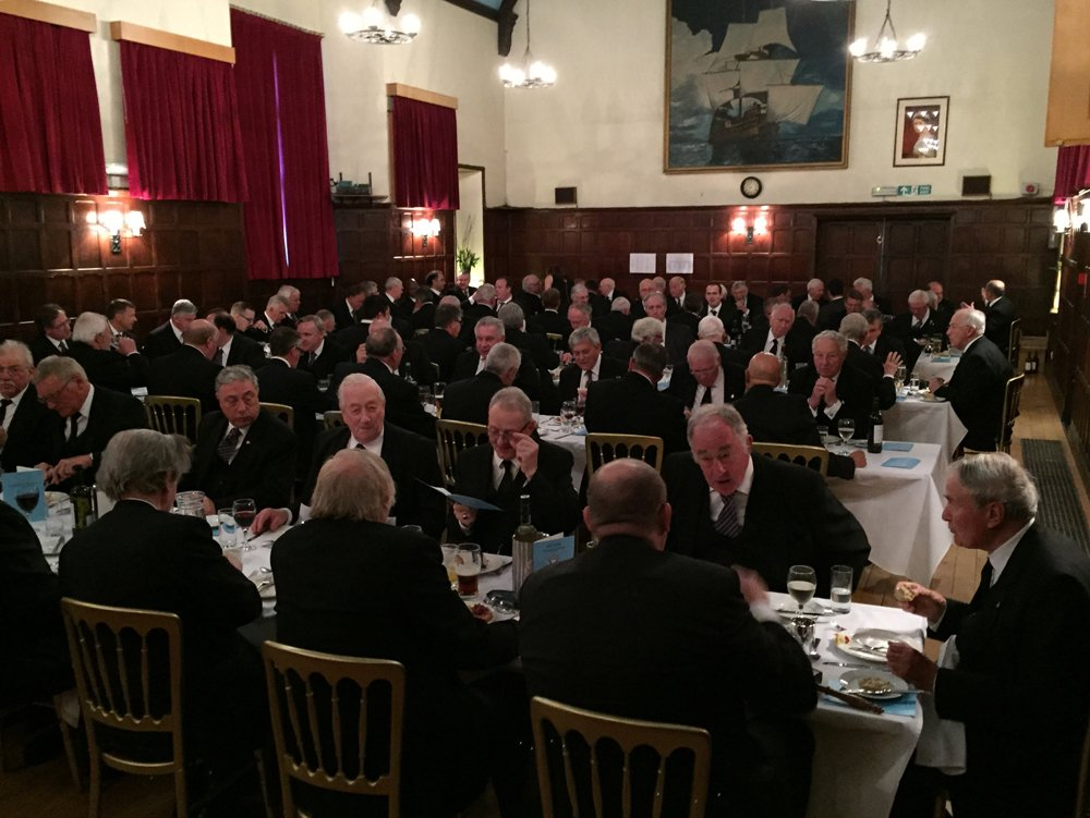 The Centenary Festive Board with almost 100 guests and entertainment from the Provincial Singers