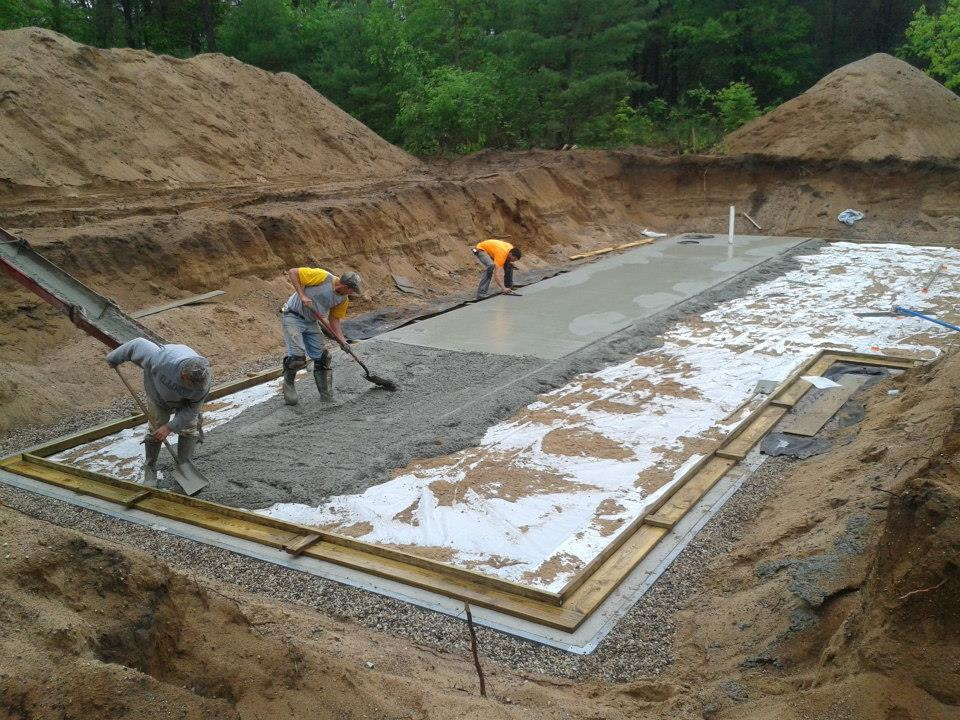 One of our concrete contractors in Wisconsin Rapids, WI
